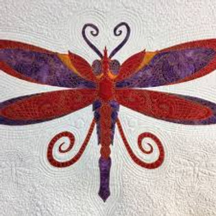Stylish Dragonfly Fabric Kit, Edith Choiniere Design pattern