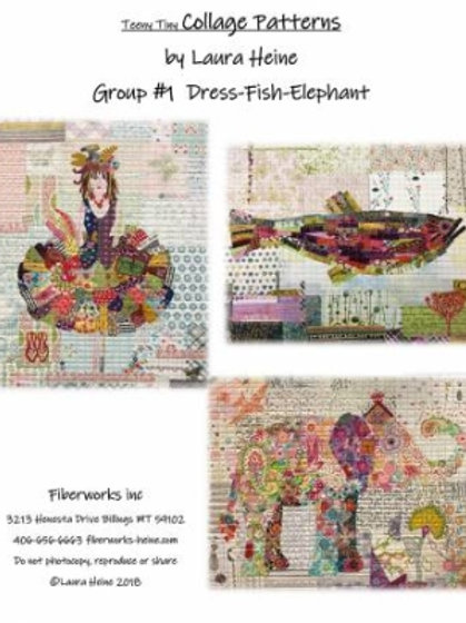 Teeny Tiny Group #1Laura Heine Collage Patterns