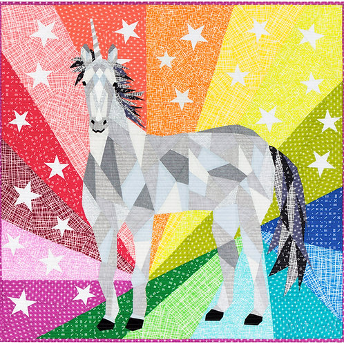 Unicorn Abstraction Pattern By Violet Craft