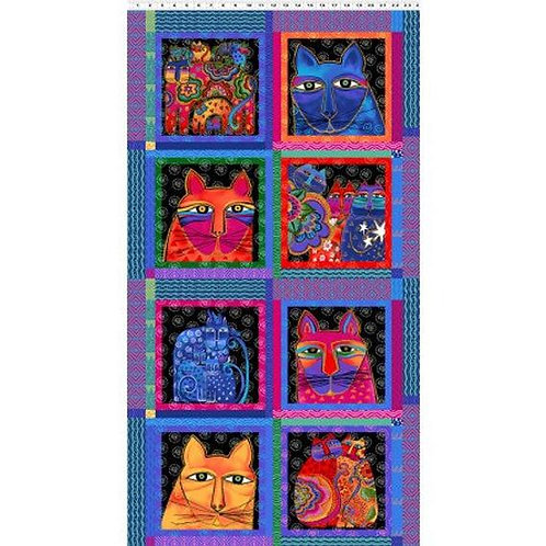 Laurel Burch Fabric Panel Feline Frolic