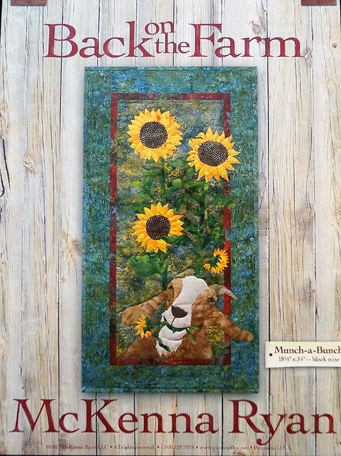 Back on the Farm, Munch-a-Bunch, Block #9, McKenna Ryan Pattern