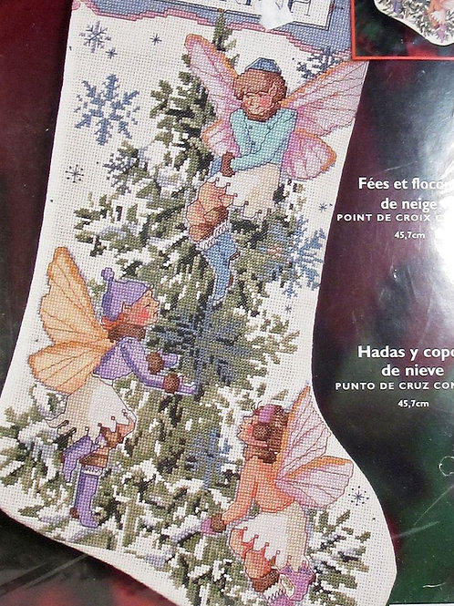 Fairies and Snowflakes Counted Cross Stitch Kit