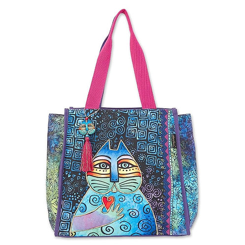 Cat Wishing Love Shoulder Tote By Laurel Burch
