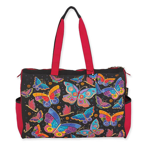 Butterfly Travel Tote Bag by Laurel Burch