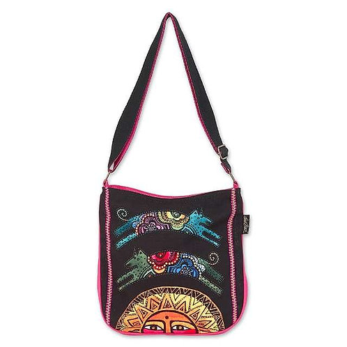Over The Sun Dog Crossbody Tote By Laurel Burch