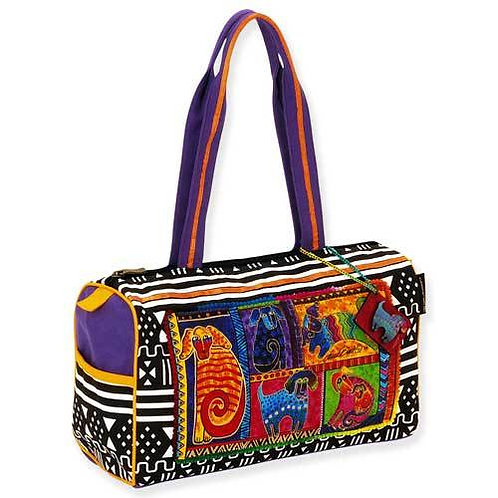 Dog Tail Patchwork Medium Handbag Purse by Laurel Burch