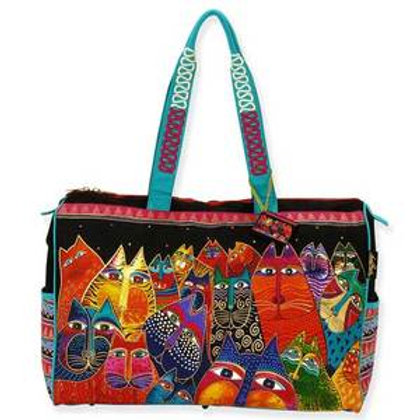 Fantasticats Travel Tote Bag by Laura Burch