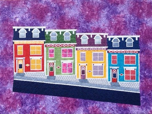 Jelly Bean Houses, Pattern, By Edith Choinière - Designer