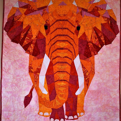 """""""Pink"""", Elephant Abstractions Pink Quilt Kit, with Violet Craft Pattern"""