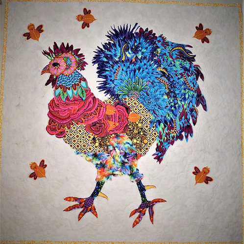 Doodle Doo Rooster Kit, includes Laura Heine Pattern & Instructions