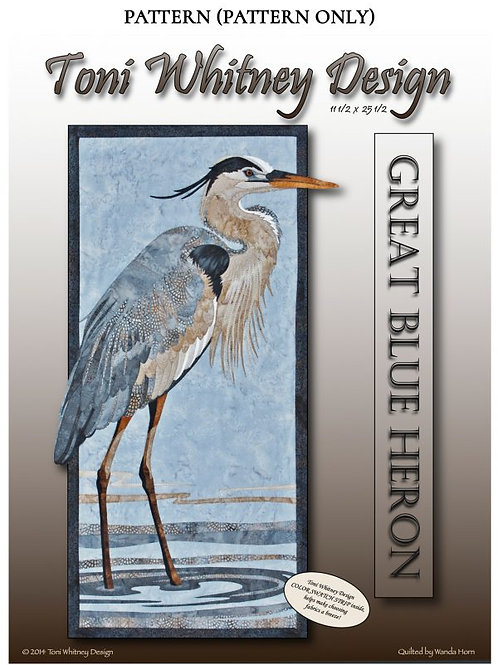 Great Blue Heron Fabric Quilt Kit by Toni Whitney