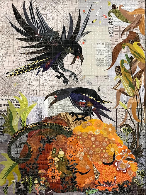 Jack, Laura Heine Collage Halloween Pattern