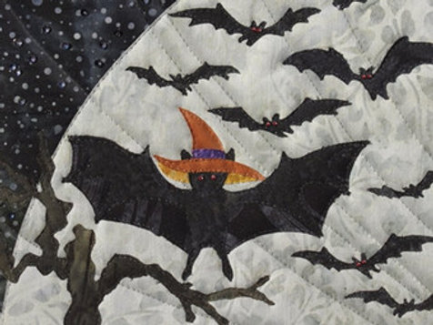 Halloweenies, Bat in the Hat, Block #2, McKenna Ryan Patterns