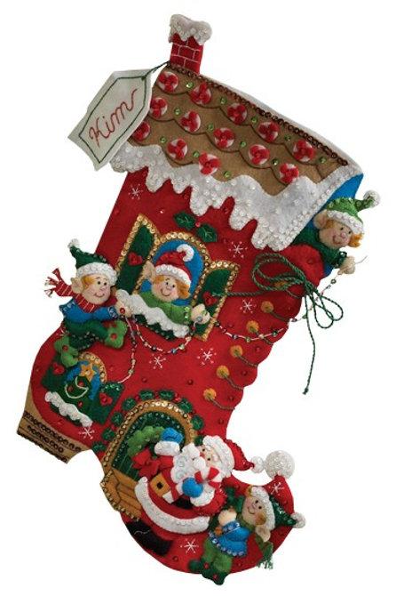 Holiday Decorating Felt Stocking