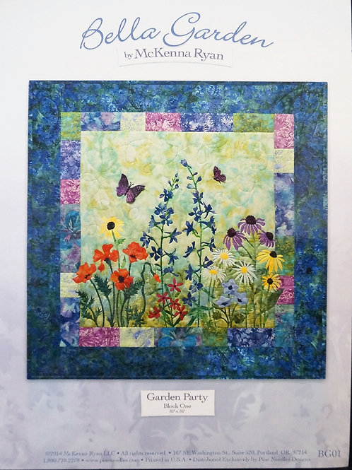 Bella Garden, Garden Party, Block#1, McKenna Ryan Patterns