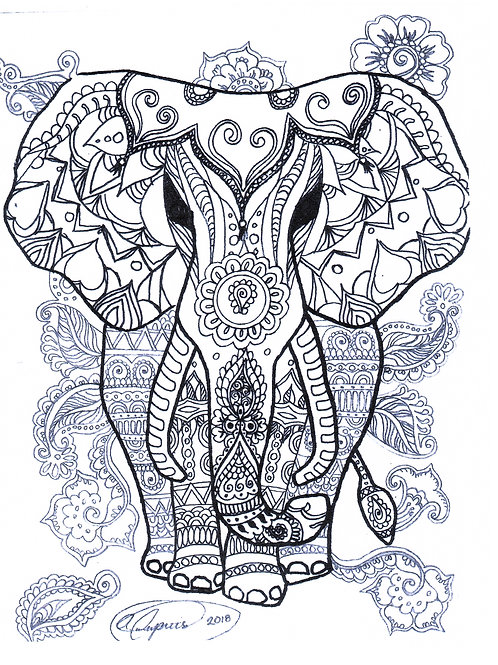 Elephant Abstractions Free Motion Pattern & Instructions