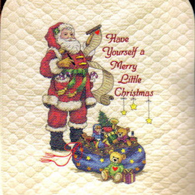Merry Little Christmas Quilt Stamped Cross Stitch Kit