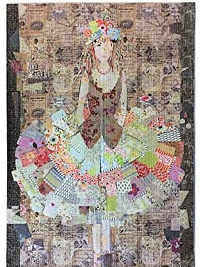 The Dress, Collage Pattern, by Laura Heine