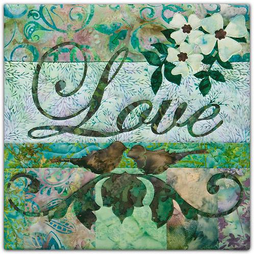 Batik Collection Faith Hope Love, Love, Block 8, McKenna Ryan Patterns