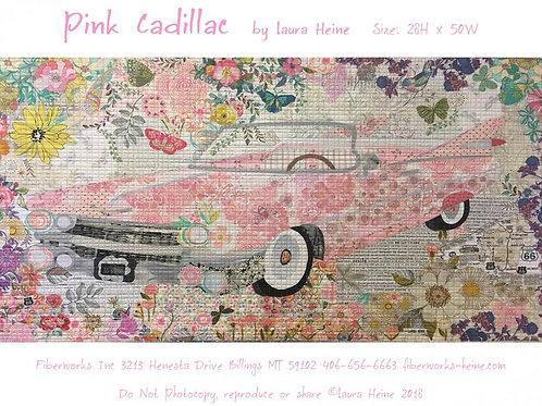 Pink Cadillac Pattern by Laura Heine