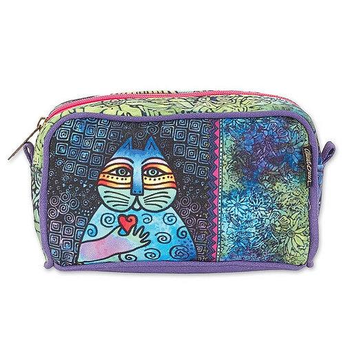 Cat Wishing Love Cosmetic Bag By Laurel Burch