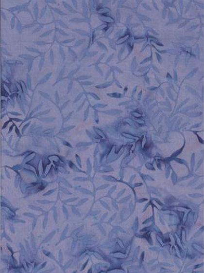 Bali Batik Lavender with Leaves 1M X 1Y