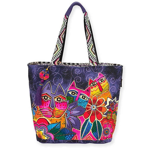 Laurels Garden Large Shoulder Tote Bag by Laurel Burch