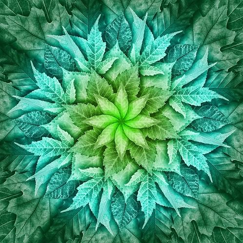 Dream Big Leaf Panel Green Mint