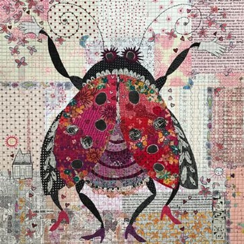 Scarlet Laura Heine Collage Lady Bug Pattern