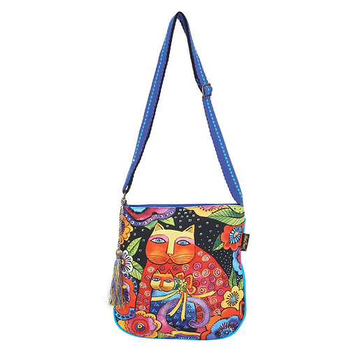 Mother and Daughter Feline Cats Crossbody By Laurel Burch