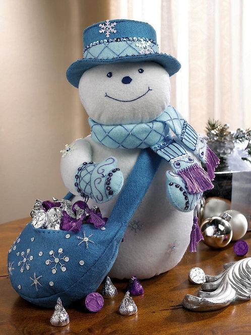 Snowflake Snowman Felt Home Decor