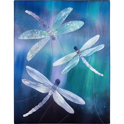 Emerald Garden Dragonfly Laser Fabric Kit, By McKenna Ryan
