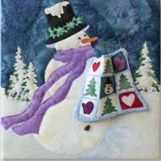 Snow Buds, Snow & Tell, Full Laser Fabric Cut Kit, Block #1, McKenna Ryan