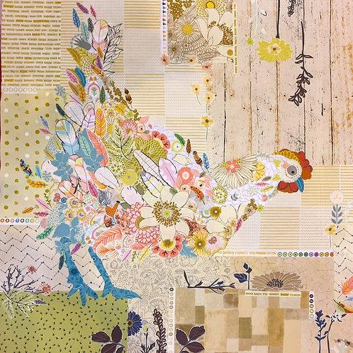 Hen Rietta Collage Pattern by Laura Heine