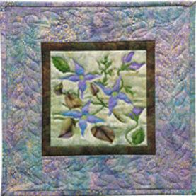 Petals of my Heart, Blue Clematis Pattern, by McKenna Ryan