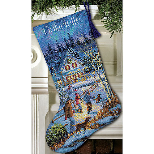Christmas Eve Fun Stocking Kit, Counted Cross Stitch