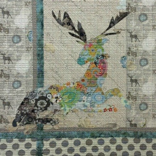 Oh Deer, collage Pattern by Laura Heine