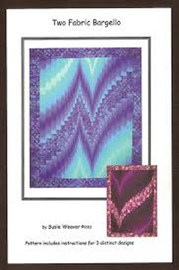 Two Fabric Bargello Quilt Pattern by Suzie Weaver