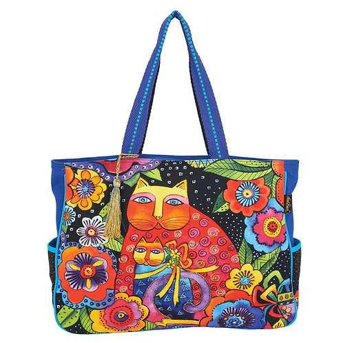 Mother Daughter Feline Friends Cats Oversize Tote by Laurel Burch
