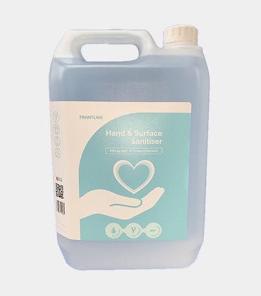 Refill Bottle - 5Litre Hand and Surface Sanitiser
