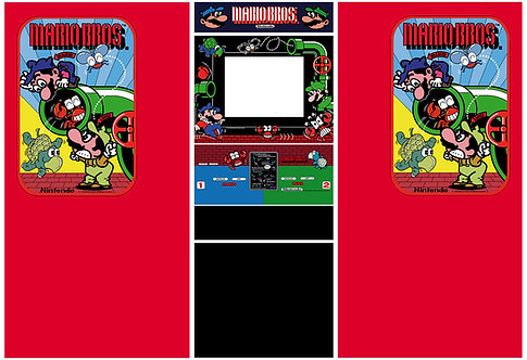 Mario Bros Widebody Side Art Arcade Cabinet