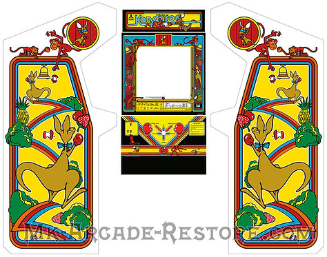 Kangaroo Arcade Cabinet Side Art Cpo Bezel Marquee