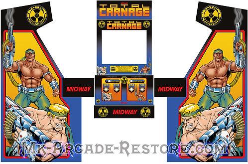Total Carnage Side Art Arcade Cabinet