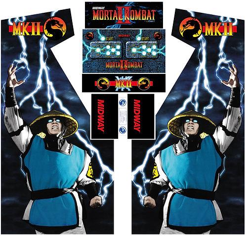 Mortal Kombat 2 MKII Side Art Arcade Cabinet