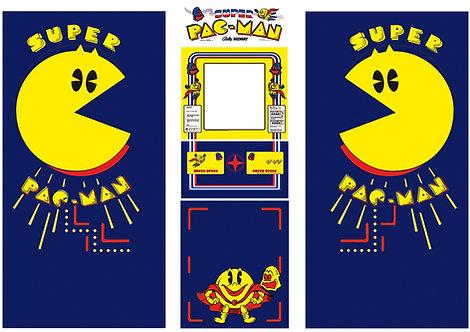 Super Pac-Man Side Art Arcade Cabinet