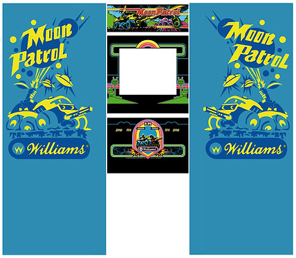 Moon Patrol Side Art Arcade Cabinet