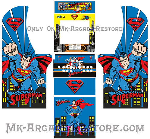 Superman Side Art Arcade1Up Cabinet