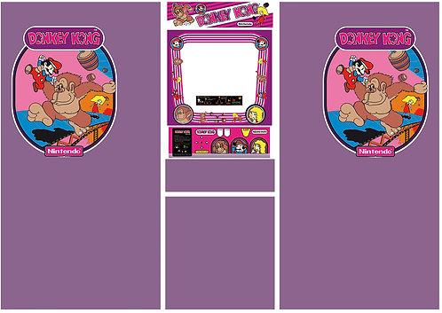 "Donkey Kong ""Pauline Set"" Side Art Arcade Cabinet"