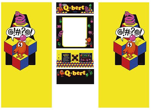 Q*Bert Q Bert Side Art Arcade Cabinet