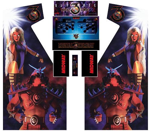 Mortal Kombat 3 UMKIII Side Art Arcade Cabinet